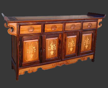 two color chinese credenza