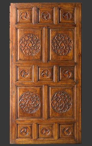 Dutch colonial teek hand carved door